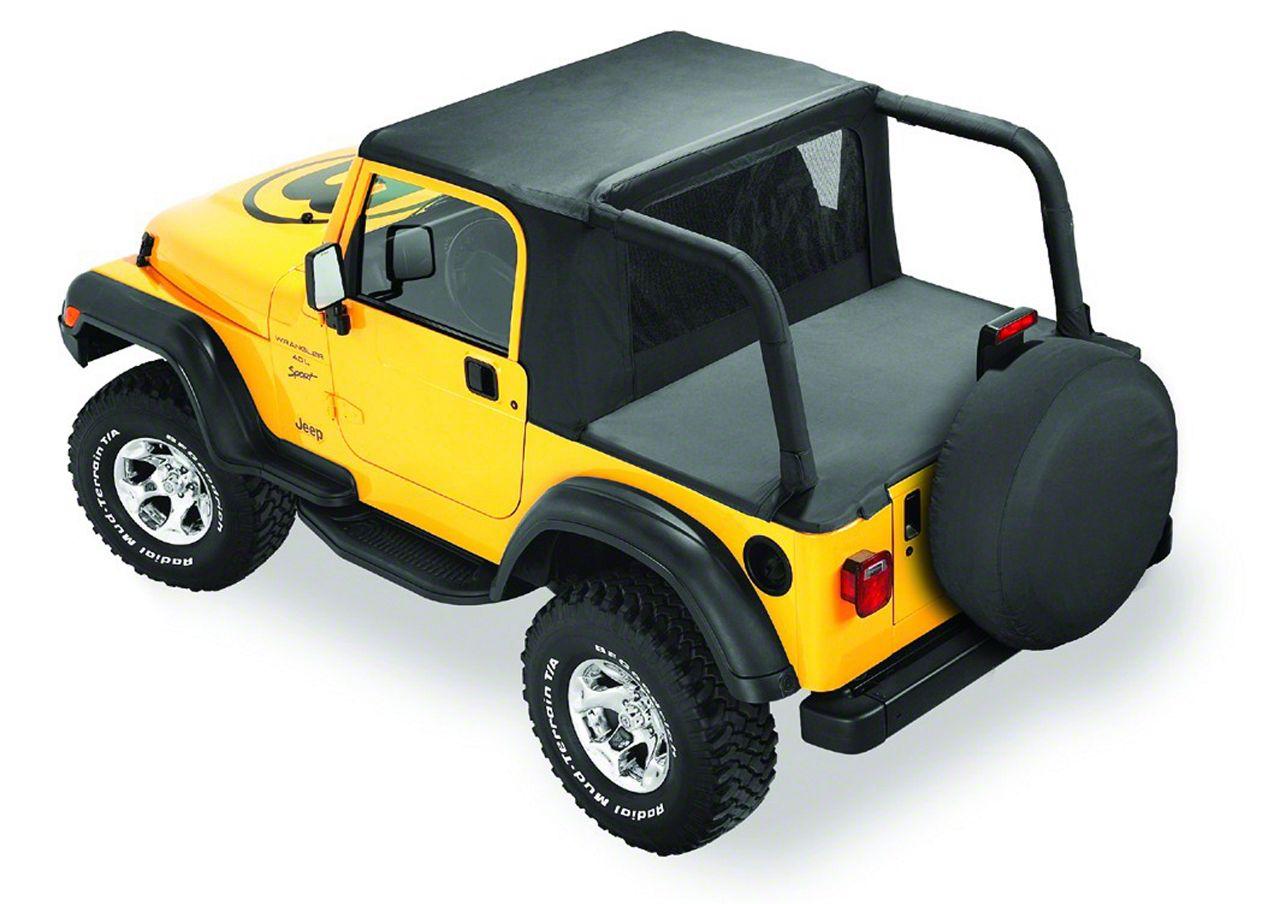 Bestop Halftop - Black Denim (92-95 Jeep Wrangler YJ)