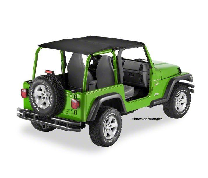 Bestop Header Bikini Top - Safari-Style (04-06 Jeep Wrangler TJ Unlimited)
