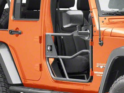 Bestop HighRock 4x4 Element Front Doors - Textured Matte Black (07-18 Jeep Wrangler JK)