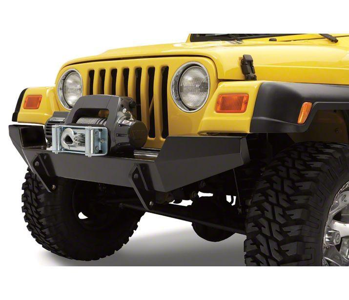 Bestop HighRock 4x4 Full Width Front Bumper - Satin Black (97-06 Jeep Wrangler TJ)