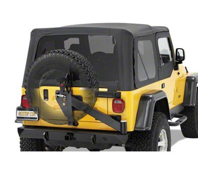 Bestop HighRock 4x4 Rear Bumper w/ Tire Carrier - Matte Black (97-06 Jeep Wrangler TJ)