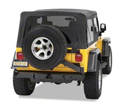 Bestop HighRock 4x4 Rear Bumper w/ Tire Carrier - Satin Black (97-06 Jeep Wrangler TJ)