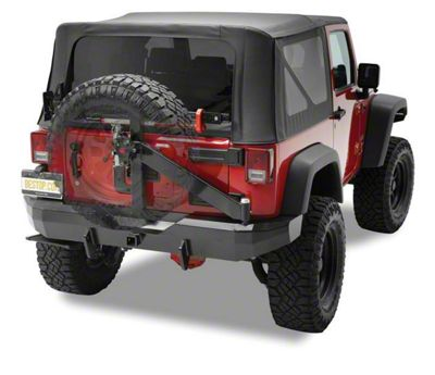 Bestop HighRock 4x4 Rear Bumper w/ Tire Carrier - Satin Black (07-18 Jeep Wrangler JK)