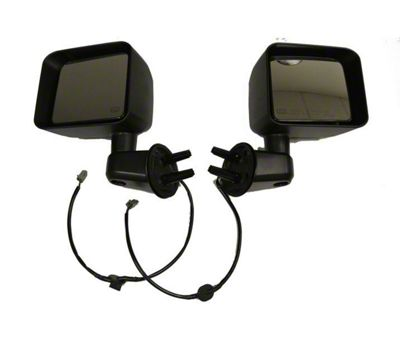 Bestop HighRock 4x4 Replacement Powered Mirrors - Black (11-13 Jeep Wrangler JK)