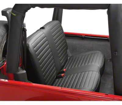 Bestop Rear Bench Seat Cover - Black Denim (97-02 Jeep Wrangler TJ)