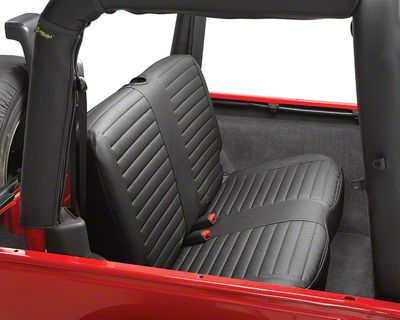 Bestop Rear Bench Seat Cover - Black Diamond (03-06 Jeep Wrangler TJ)