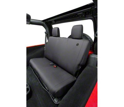 Bestop Rear Seat Cover - Black Diamond (07-18 Jeep Wrangler JK)