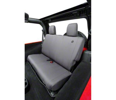 Bestop Rear Seat Cover - Charcoal (07-18 Jeep Wrangler JK)