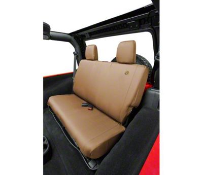 Bestop Rear Seat Cover - Tan (07-18 Jeep Wrangler JK)