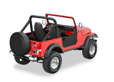 Bestop Soft Lower Half Doors - Black Crush (87-95 Jeep Wrangler YJ)