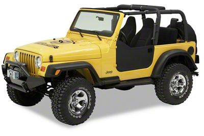 Bestop Soft Lower Half Doors - Black Diamond (97-06 Jeep Wrangler TJ)