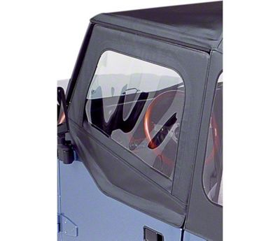 Bestop Soft Upper Half Doors - Black Crush (88-95 Jeep Wrangler YJ)