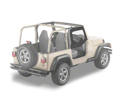 Bestop Soft Upper Half Doors - Black Diamond (97-06 Jeep Wrangler TJ)
