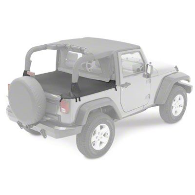 Bestop Duster Deck Cover - Black (07-18 Jeep Wrangler JK 2 Door)