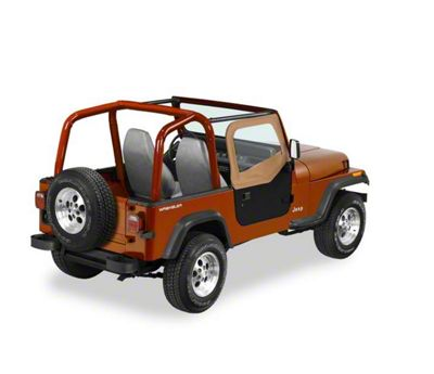 Bestop Soft Upper Half Doors - Spice (88-95 Jeep Wrangler YJ w/ Rounded Upper Rear Door)