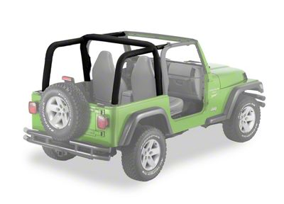 Bestop Sport Bar Covers - Black Diamond (07-18 Jeep Wrangler JK 4 Door)