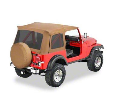 Bestop Supertop Classic Replacement Skins w/ Tinted Windows - Spice (87-95 Jeep Wrangler YJ)