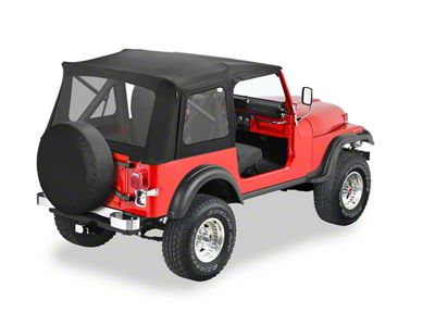 Bestop Supertop Classic Replacement Soft Top - Black Crush (87-95 Jeep Wrangler YJ)