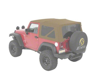 Bestop Supertop NX Soft Top - Beige Twill (07-18 Jeep Wrangler JK 2 Door)