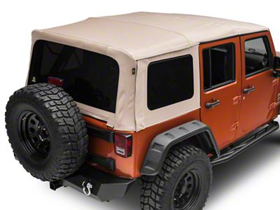 Bestop Supertop NX Soft Top - Beige Twill (07-18 Jeep Wrangler JK 4 Door)
