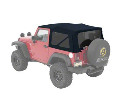 Bestop Supertop NX Soft Top - Blue Twill (07-18 Jeep Wrangler JK 2 Door)