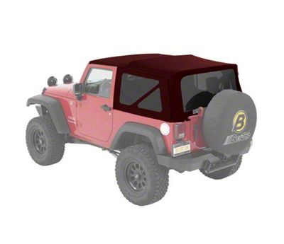 Bestop Supertop NX Soft Top - Red Twill (07-18 Jeep Wrangler JK 2 Door)
