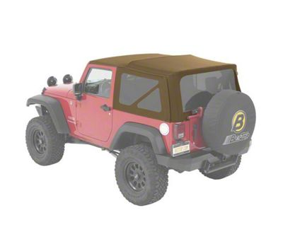 Bestop Supertop NX Soft Top - Tan Twill (07-18 Jeep Wrangler JK 2 Door)