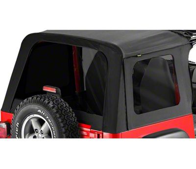 Bestop Tinted Replacement Window Set for Sunrider - Black Denim (97-02 Jeep Wrangler TJ)