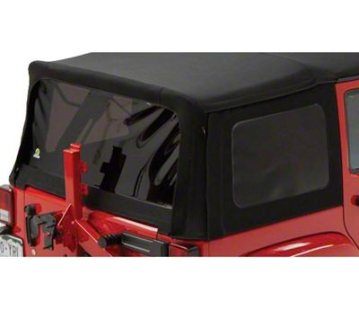 Bestop Tinted Replacement Window Set for Supertop NX or Replace-a-Top - Black Twill (07-18 Jeep Wrangler JK 4 Door)