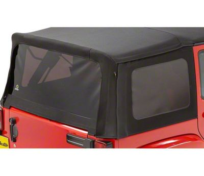 Bestop Tinted Replacement Window Set for Twill Replace-a-Top (07-09 Jeep Wrangler JK 4 Door)