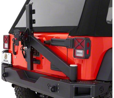 Bestop Tire Carrier Assembly for HighRock 4x4 Modular Rear Bumper (07-18 Jeep Wrangler JK)