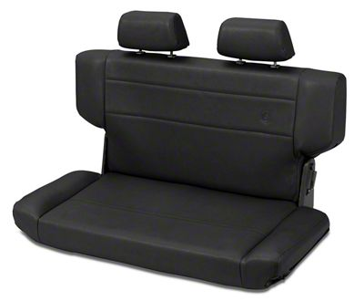 Bestop Trailmax II Fold & Tumble Rear Bench Seat in Vinyl - Black Crush (97-06 Jeep Wrangler TJ)