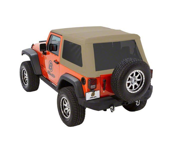 Bestop Trektop NX Glide Soft Top - Beige Twill (07-18 Jeep Wrangler JK 2 Door)