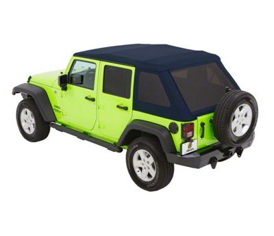 Bestop Trektop NX Glide Soft Top - Blue Twill (07-18 Jeep Wrangler JK 4 Door)