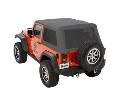 Bestop Trektop NX Glide Soft Top - Gray Twill (07-18 Jeep Wrangler JK 2 Door)