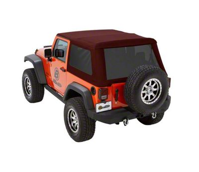 Bestop Trektop NX Glide Soft Top - Red Twill (07-18 Jeep Wrangler JK 2 Door)