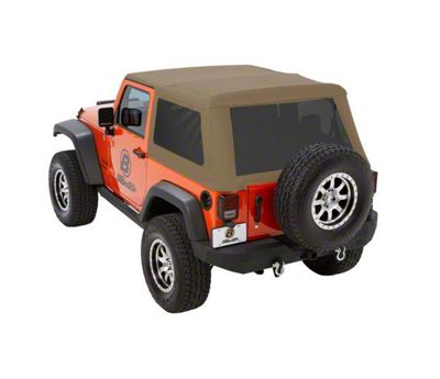 Bestop Trektop NX Glide Soft Top - Tan Twill (07-18 Jeep Wrangler JK 2 Door)