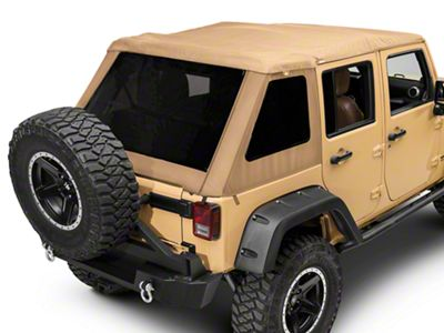 Bestop Trektop NX Glide Soft Top - Tan Twill (07-18 Jeep Wrangler JK 4 Door)