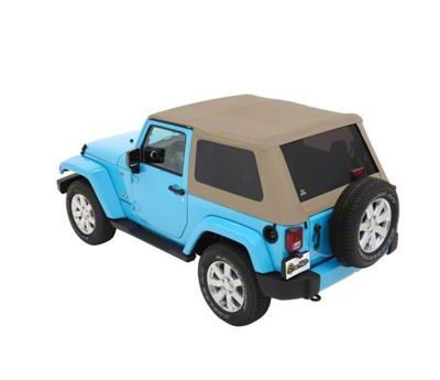 Bestop Trektop NX Plus Soft Top - Beige Twill (07-18 Jeep Wrangler JK 2 Door)