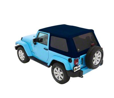 Bestop The All New Trektop NX Soft Top - Blue Twill (07-18 Jeep Wrangler JK 2 Door)