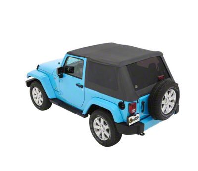 Bestop The All New Trektop NX Soft Top - Gray Twill (07-18 Jeep Wrangler JK 2 Door)