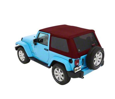 Bestop The All New Trektop NX Soft Top - Red Twill (07-18 Jeep Wrangler JK 2 Door)