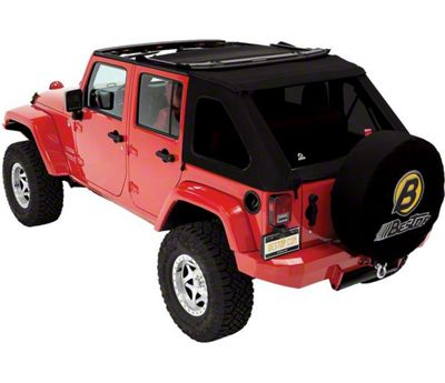 Bestop Trektop NX Replace-a-Top - Black Twill (07-18 Jeep Wrangler JK 4 Door)