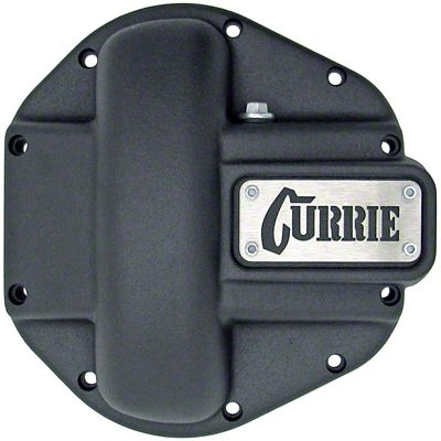 Currie Iron Differential Cover for RockJock/Dana 44 Housings - Textured Black (07-18 Jeep Wrangler JK)