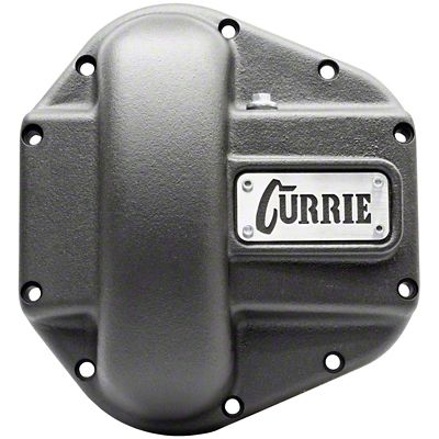 Currie Iron Differential Cover for RockJock/Dana 60 & 70 Housings - Textured Black (07-18 Jeep Wrangler JK)