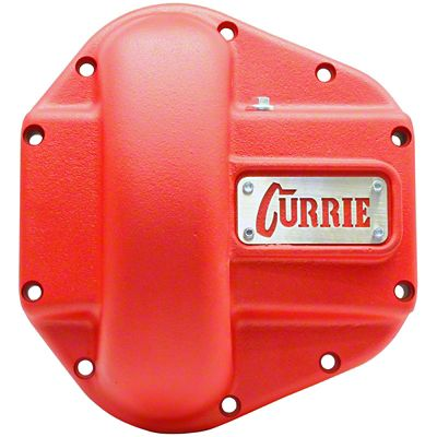 Currie Iron Differential Cover for RockJock/Dana 60 & 70 Housings - Textured Red (07-18 Jeep Wrangler JK)