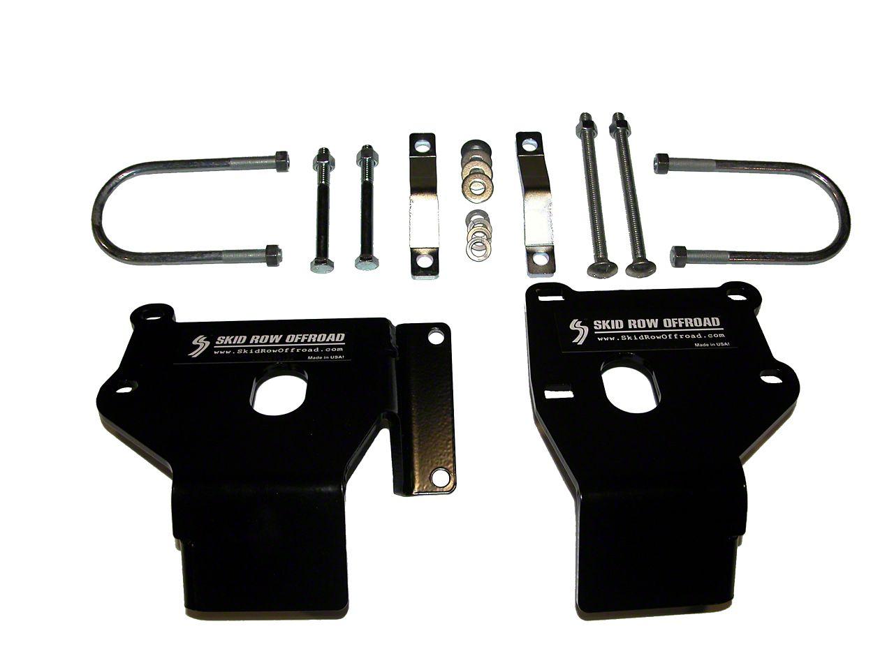 Skid Row Off-Road Lower Control Arm Skid Plates (97-06 Jeep Wrangler TJ)