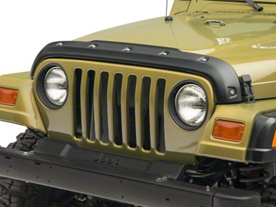 Barricade Premium Bolt-On Look Hood Deflector (97-06 Jeep Wrangler TJ)