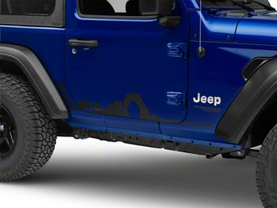 Mopar Mountain Side Graphic (2018 Jeep Wrangler JL 2 Door)