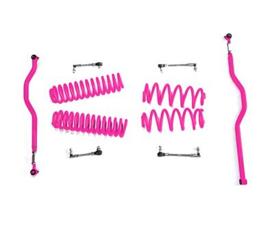 Steinjager 2.5 in. Basic Lift Kit - Hot Pink (07-18 Jeep Wrangler JK)